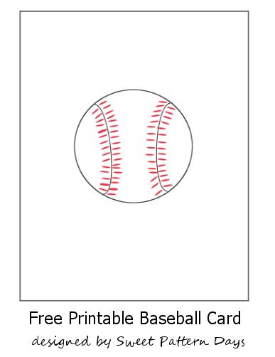 baseball card size template - free printable baseball card stationery printables