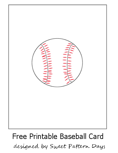 Amazing image inside printable baseball card template
