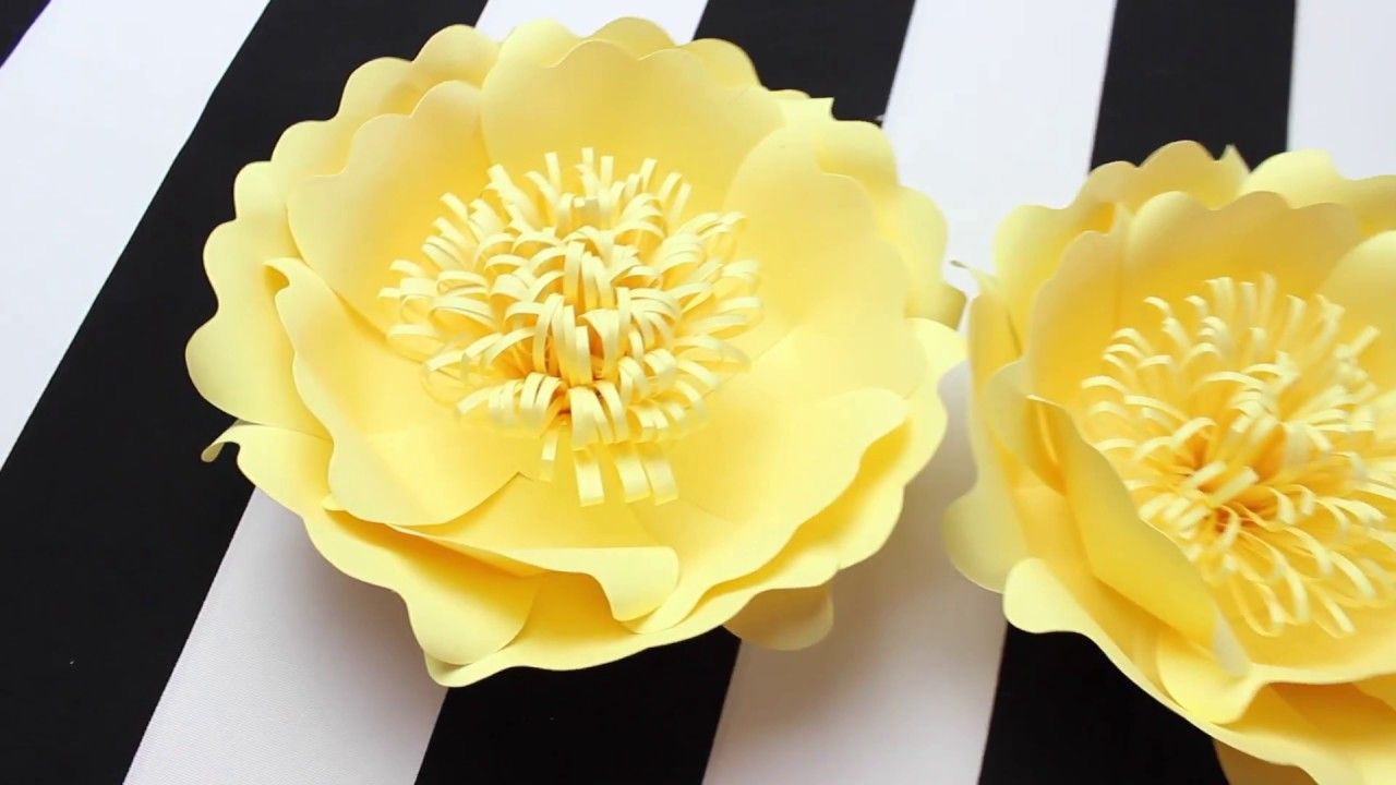 DIY Paper Flower Backdrop  Spring Colors  Template   Wedding