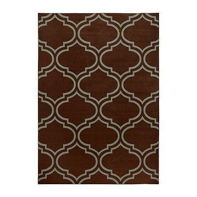 Jackson Blue And Brown Quatrefoil Area Rug 7x9 Rugs Contemporary Area Rugs Area Rugs
