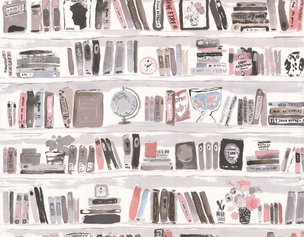 Bella Books By Kate Spade Blush Wallpaper W3332 711