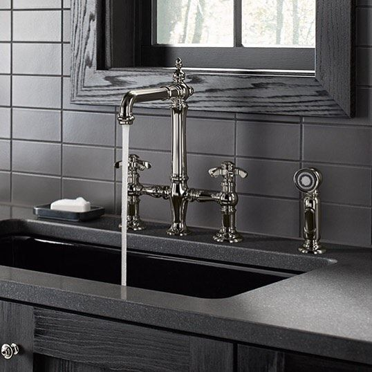 The Kohler Artifacts Faucet Collection Brings You Classic Designs Reimagined In Fresh New Ways For Various Task A Kohler Artifacts Bridge Faucet Kitchen Faucet