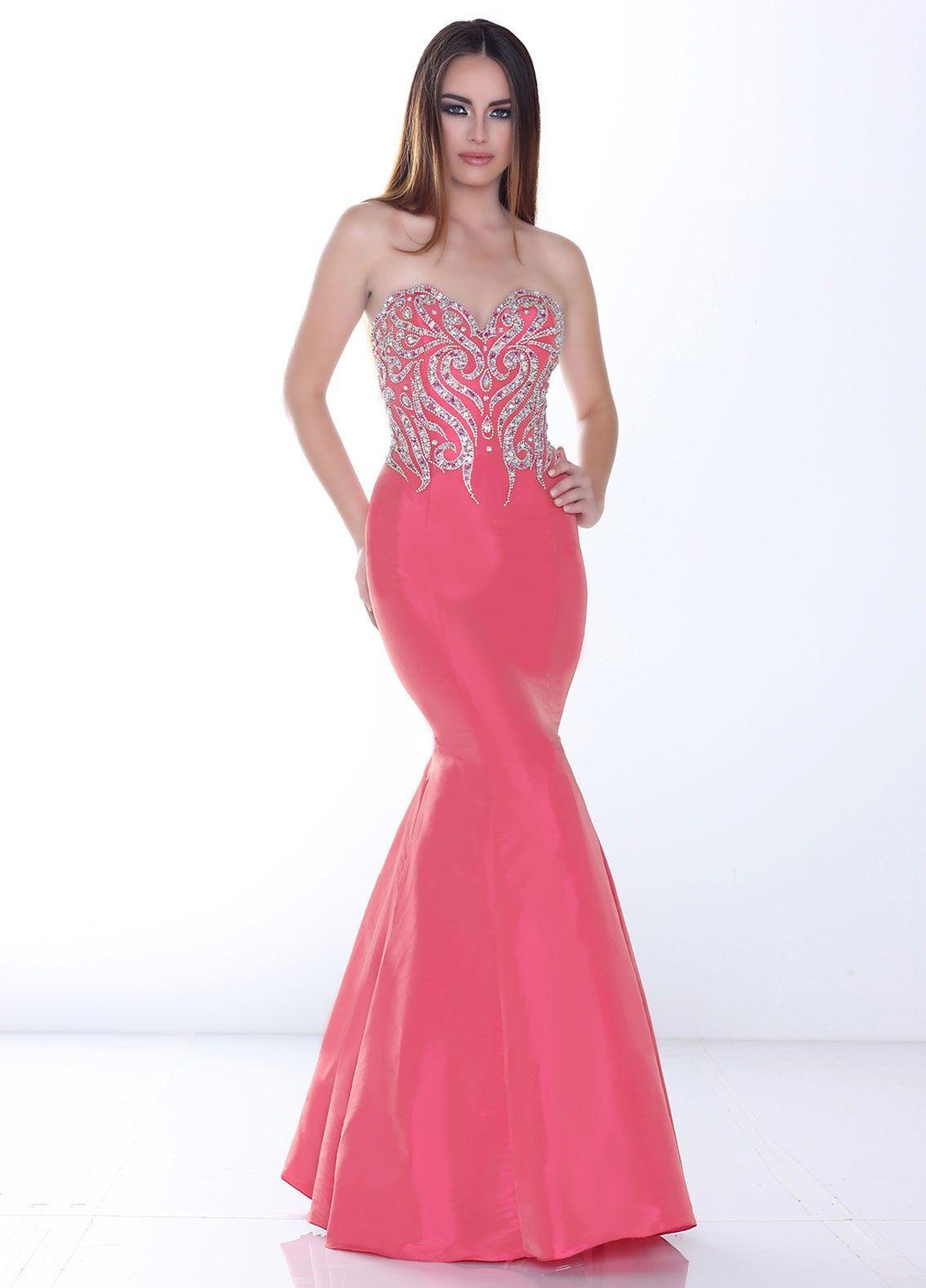 Captivating sweetheart pink trumpet mermaid military ball dress