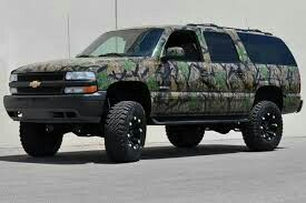 Camo Suburban But I Would Like It On A Square Boy Chevrolet