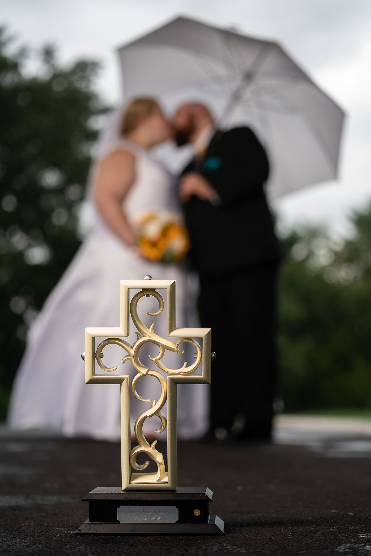 The Unity Cross is used during a Wedding Ceremony to show