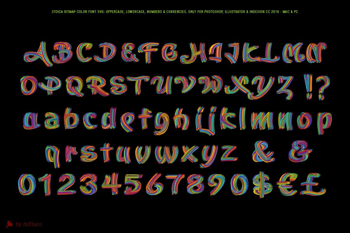 Stoica Bitmap SVG Color Font on Behance Bitmap, Fonts