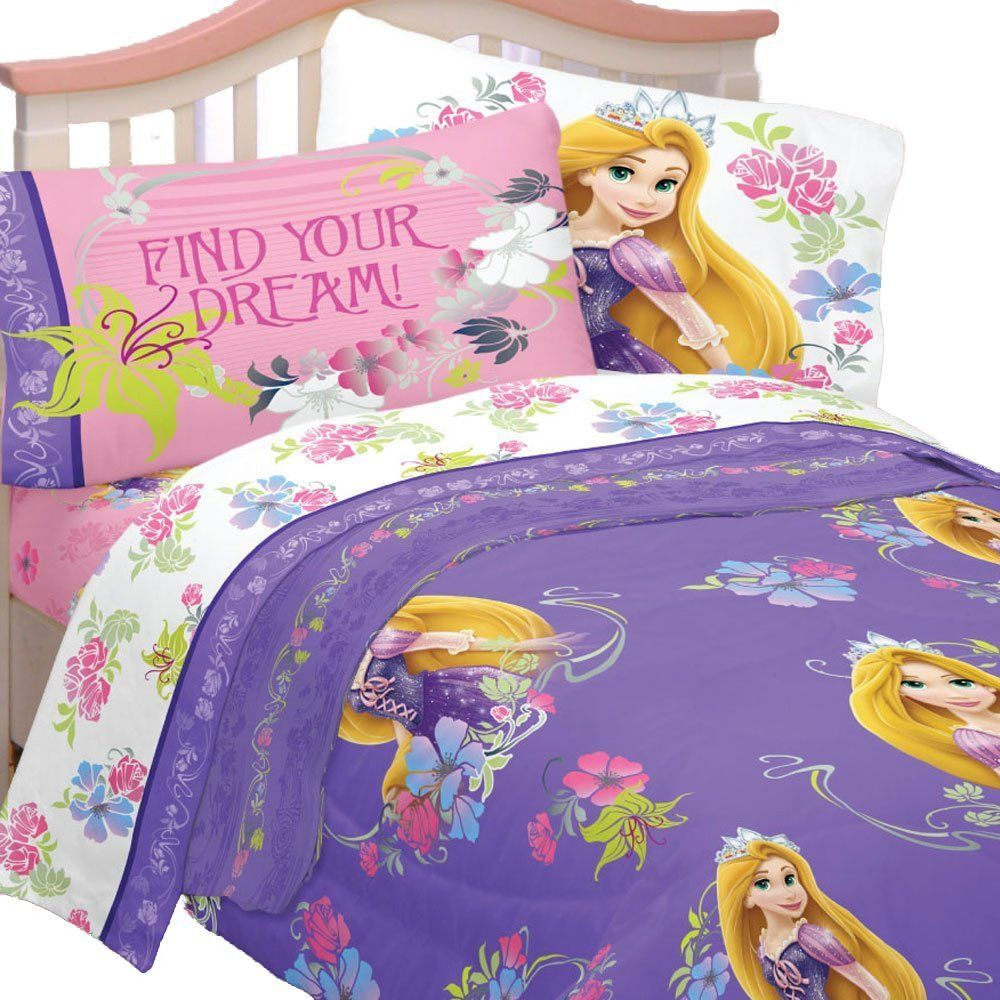 4pc Disney Tangled Twin Bedding Set Rapunzel Princess Style