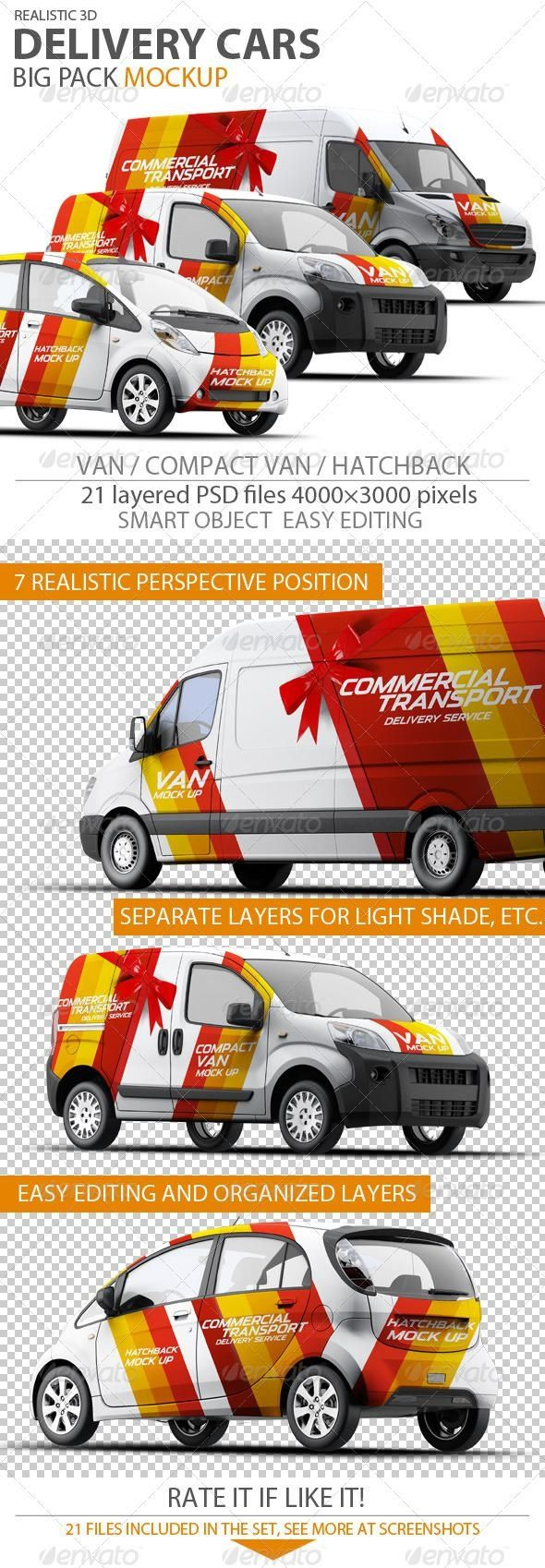 Cars Mockup for 8 mockups psd GraphicRiver
