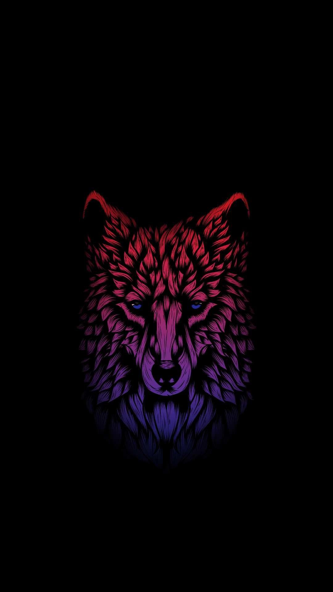Minimal Dark Wolf Art Iphone Wallpaper Wolf Wallpaper Wolf Art