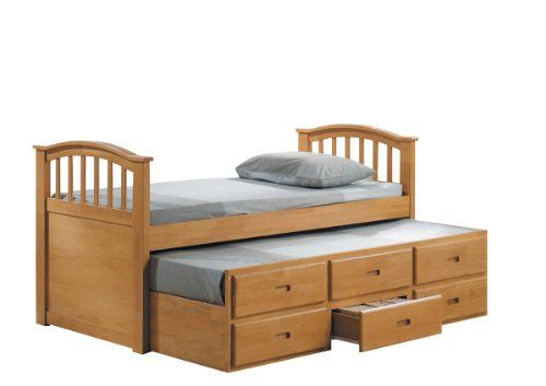 Acme 08933 San Marino Full Bed And Trundle With Drawers Maple Finish Acme Http Www Amazon Com Dp B0082a0j56 Trundle Bed With Storage Bed Furniture Furniture