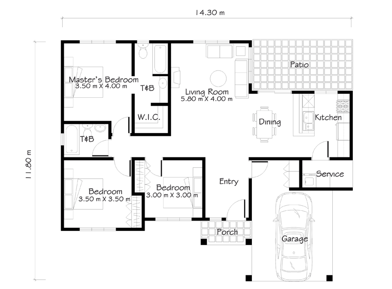 One story house plans like small house designs series shd for Patio home plans one story