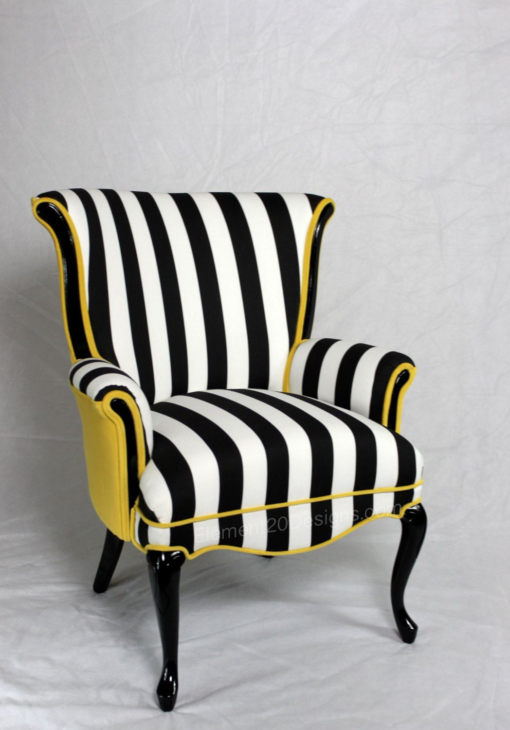 Sold CAN REPLICATE made in the USA Black and White striped Vintage