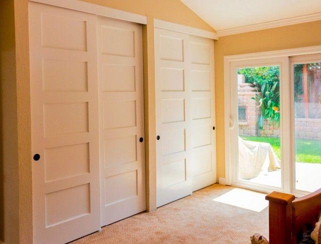 Double Closet Doors Folding Barn Door Bedroom