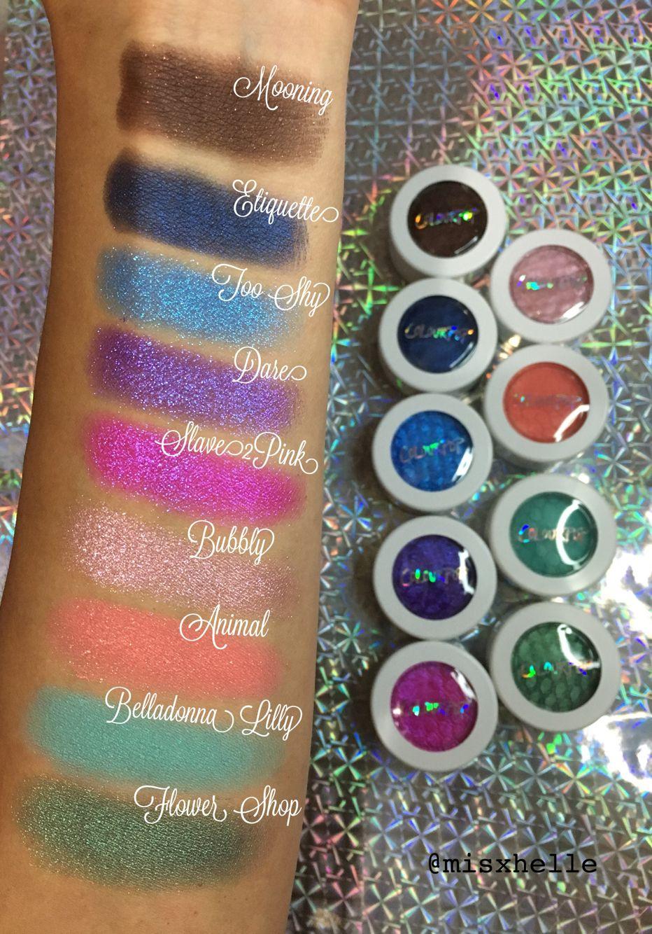 ColourPop Super Shock Eyeshadow Swatches Part-1 Mooning