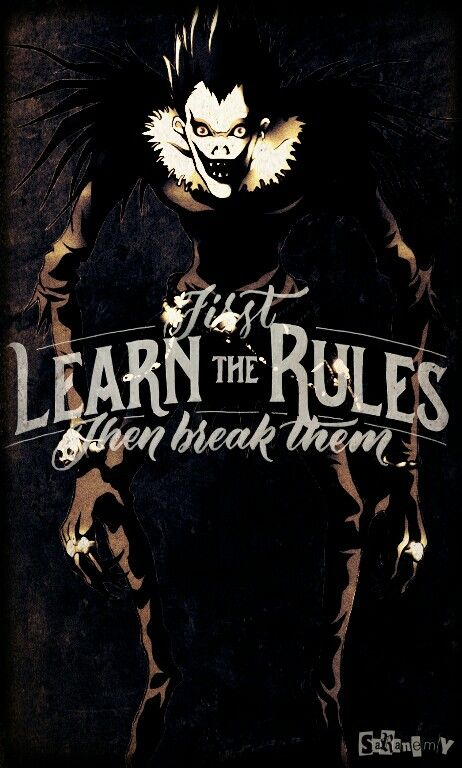 Ryuk Phone Background Made By Saranemy Saranemy On Twitter Iphone Background Deathnote Ryuk Motivation Quote Lockscre Death Note L Death Note Death