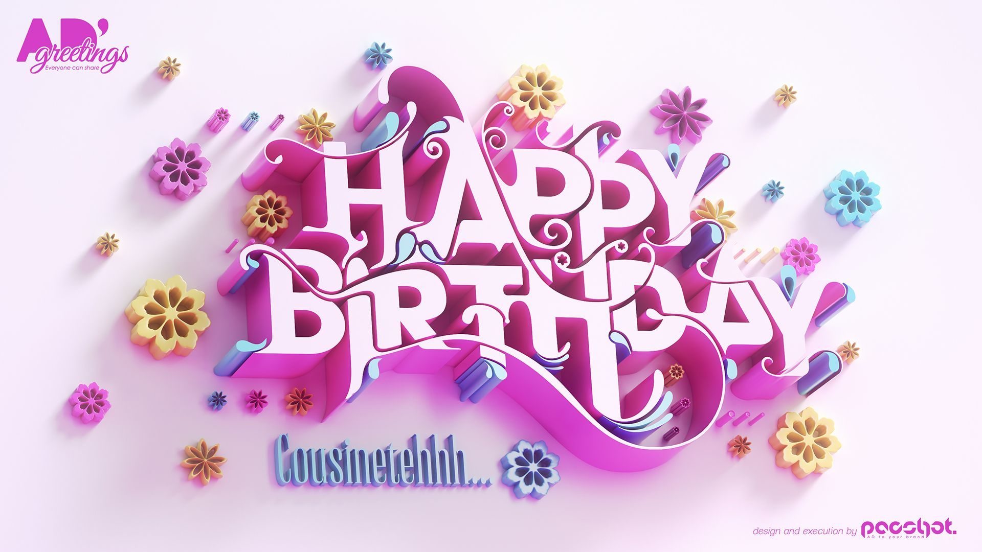 Happy Birthday Greeting Card 2 Is A Digital Greeting Card Designed And Executed By Pacshot A Birthday Card Design Birthday Greetings Happy Birthday Typography