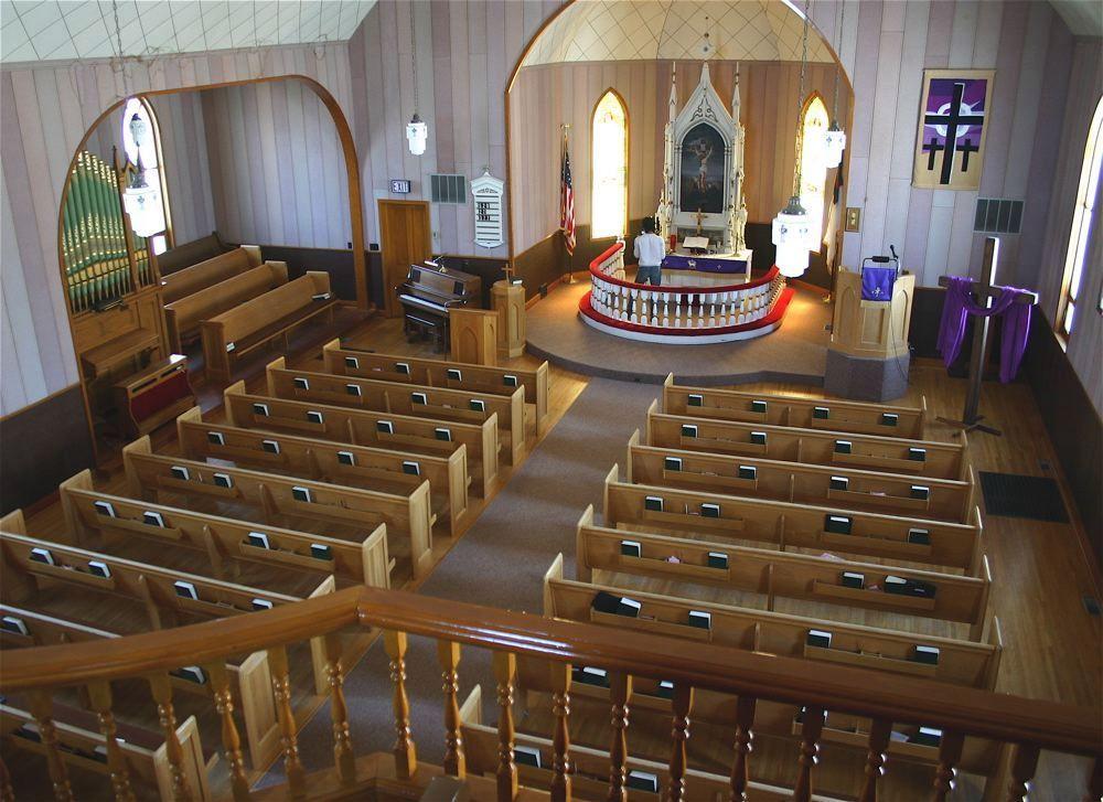 Beautiful Inside Of Country Church