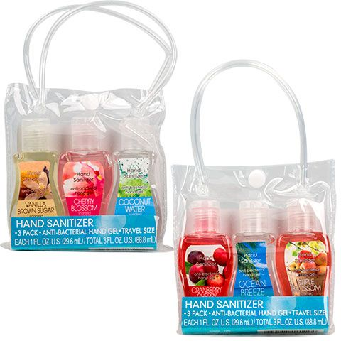 Travel Size Scented Hand Sanitizer 3 Ct Packs Scented Hand