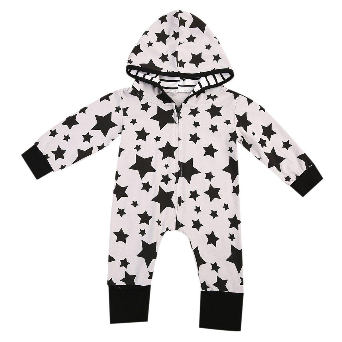 Summer Toddler Newborn Baby Boy Hooded Romper Zipper Jumpsuit Playsuit Outfit UK