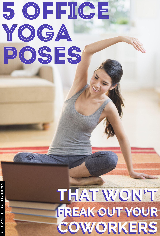 Procura que el trabajo no te inmovilice... tómate descansos para relajar tu mente y tu cuerpo. ¡5 ejercicios de yoga que puedes hacer en la oficina! Don't let work immobilize you... take breaks to relax your mind and body. 5 yoga exercises you can do at the office!