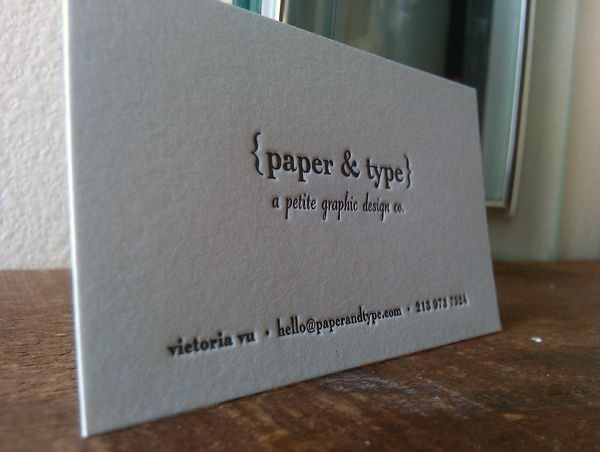 Paper type letterpress printed business cards letterpress paper type letterpress printed business cards colourmoves Gallery