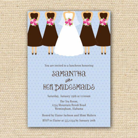 bridesmaids luncheon invitation bridesmaids brunch digital