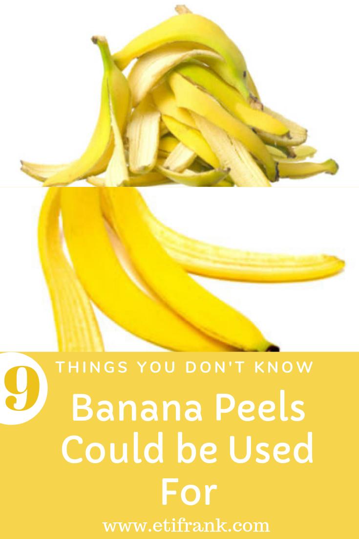 9 Things You Didn T Know You Could Use Banana Peels For Banana Benefits Banana Banana Peel