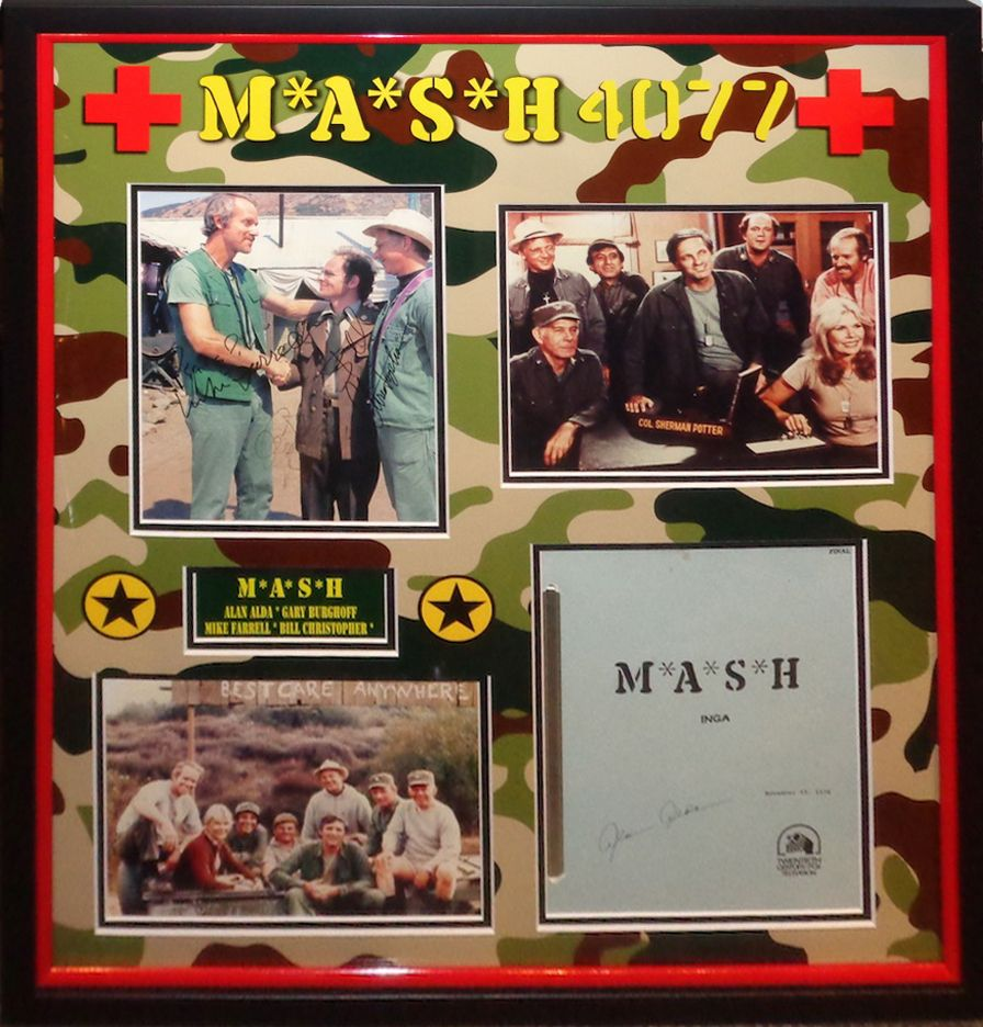 Mash Signed Photo And Script By 4 - Antiquities