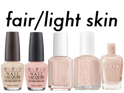 Neutrals For Fair To Light Skin L R Opi Samoan Sand Coney Island Cotton Candy Essie Broach The Subject Truth Zoya Averyu