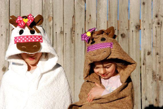 Pony Kids Hooded towel/Horse hood towel/Pony Hooded towel/Baby Towel ...