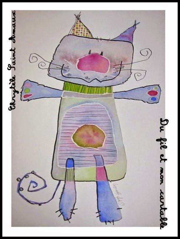 Du fil et mon cartable  Arts Visuels Chat Pinterest Le fil