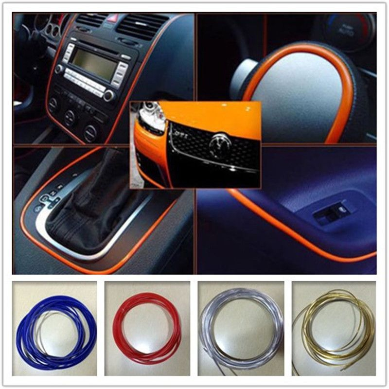 5 mpartij auto styling interieur draad sticker type insert luchtuitlaat dashboard decoratie strip accessoires