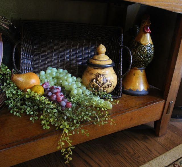Tuscan Decorating Above Kitchen Cabinets: Southern Seazons: Tuscan Meets French Country