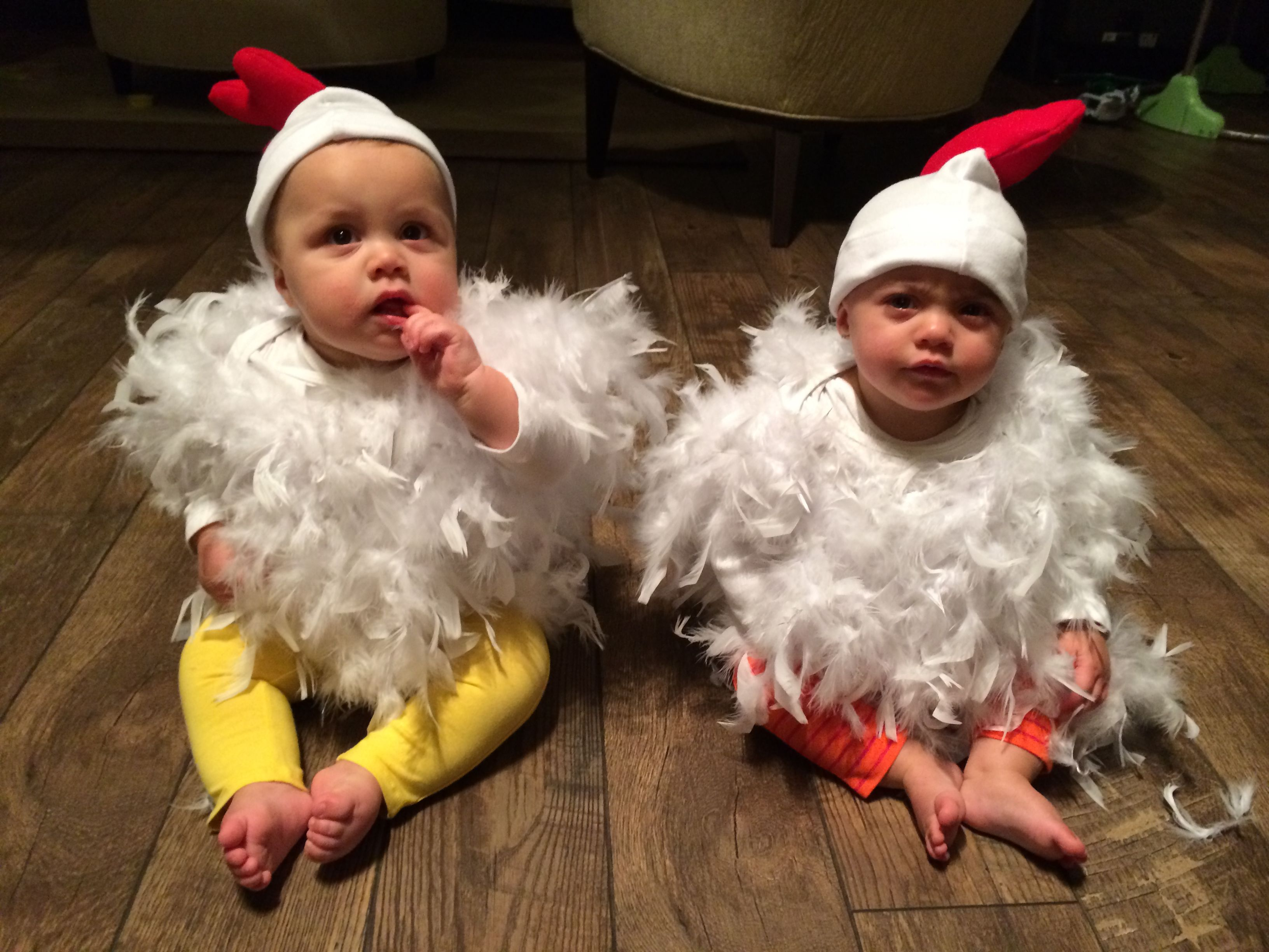 My twins this Halloween e didn t like it so much twin baby