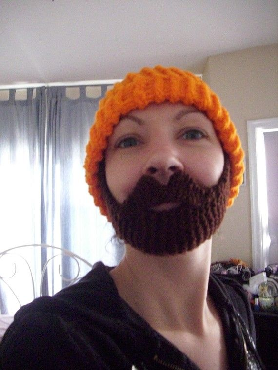Bearded Beanie Custom Made To Order Hand Knit By Poorgirlcouture