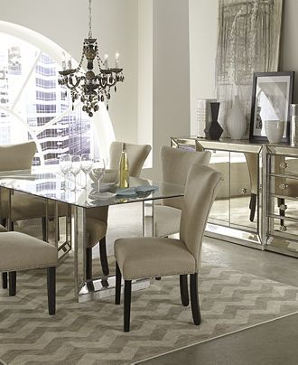 Sophia Mirrored Dining Room Furniture Collection Macy S