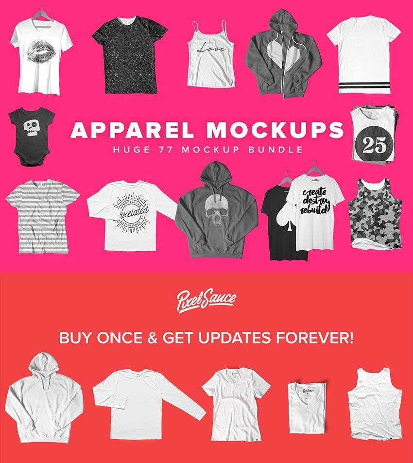 Download 77 Apparel Mockups Bundle Tshirt Mockup Clothing Mockup Shirt Mockup