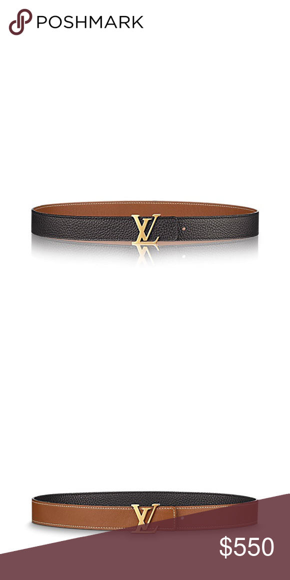 2235c89bc223 LV INITIALES 30MM REVERSIBLE BELT Only worn once! Beautiful belt with cloth  sleeper and original box - Width  30 mm   1.2 inches - Shiny golden-finish  ...