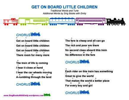 Get On Board Little Children An Illustrated Song Sbwe Songbook