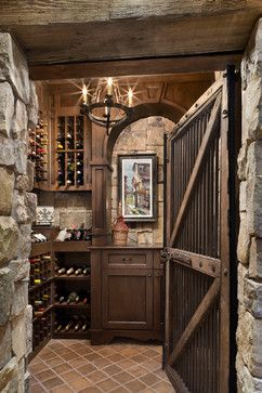 Jobs Peak Ranch Residence rustic wine cellar