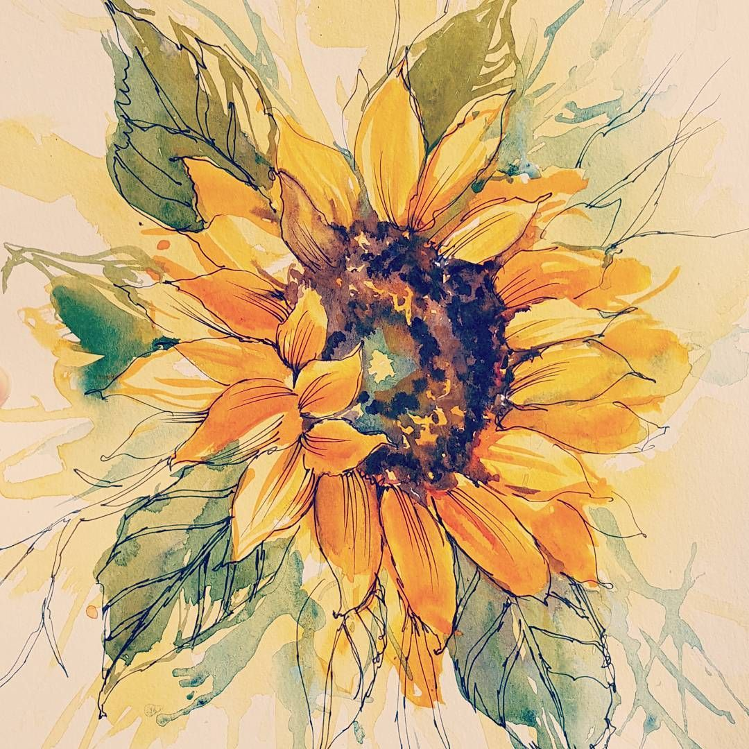 Sunflower Sunflower Watercolour Tattoo Design Instagram Photo By