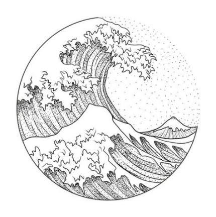 46+ New Ideas For Tattoo Wave Hokusai