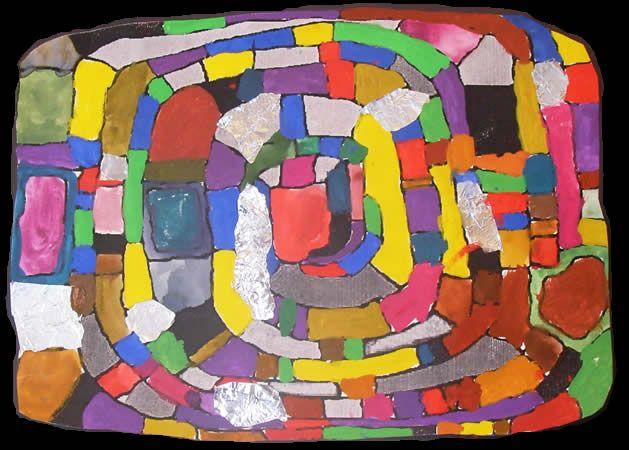 Bildnerische Erziehung In Der Volksschule Hundertwasser Spirale Hundertwasser Kunst Grundschule Kunstideen