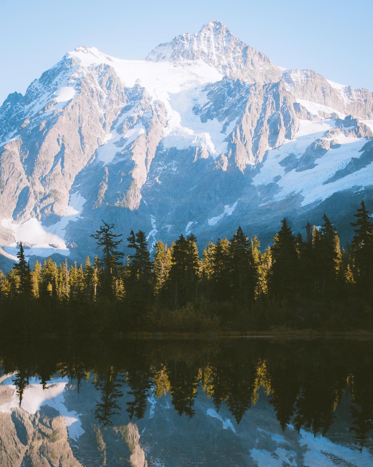 Picture Lake Mount Baker Wilderness Area Washington [OC