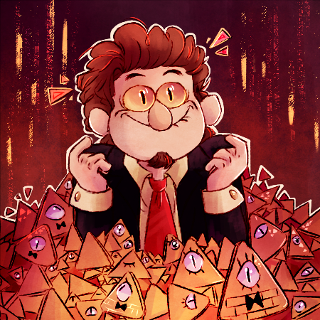 All hail to the dorito king! For Twitter contest #HirschIcon by CherryVioletS