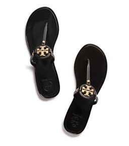 0af18418a Black Tory Burch Mini Miller Jelly Thong Sandal