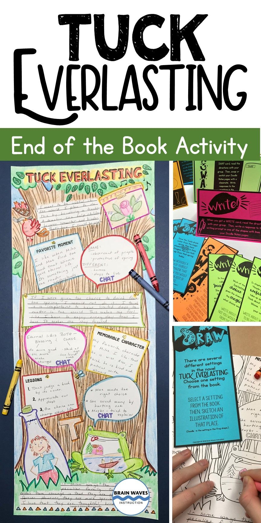 Looking For A Fun And Educational Way To Wrap Up The Book Tuck Everlasting Then You And Your Students Are Going To L Tuck Everlasting Book Projects Task Cards