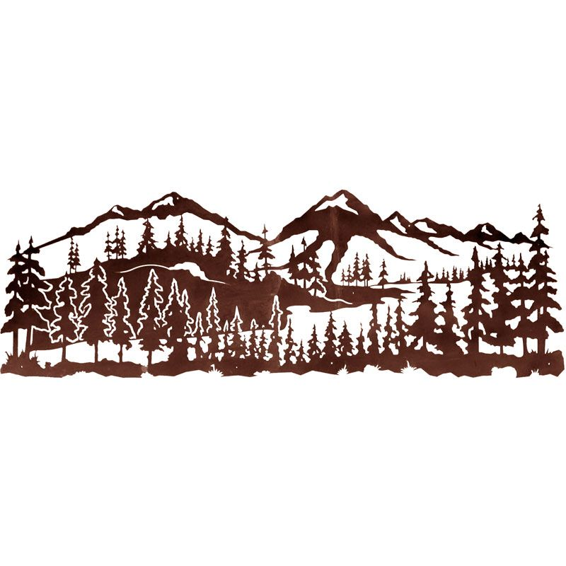 Ordinaire The Mountain Landscape X Scenic Metal Wall Art By Ironwood Industries  Features A Wonderful Image Precision Cut From Rolled Steel. Add A Sense Of  Rustic ...