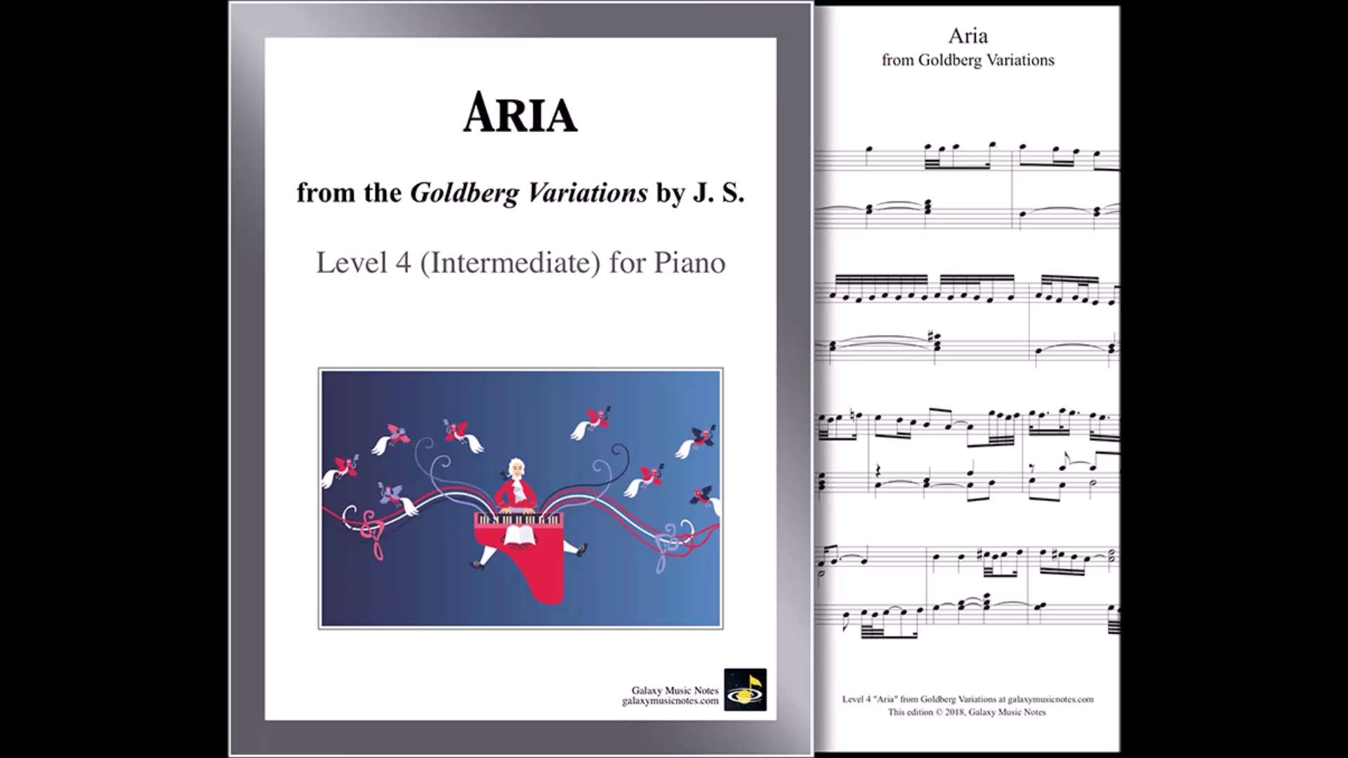 Aria From Goldberg Variations By Bach For Multi Levels Piano Sheets Video Piano Sheet Music Sheet Music Piano Music