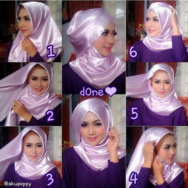 10+ Cara Memakai Hijab Segi Empat Modern Terbaru